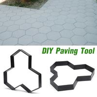 Garden Yard DIY Multi use Plastic Path Maker Concrete Stepping Stone Cement Brick Mold Road Concrete Molds For Garden Home|Paving Molds| |  -