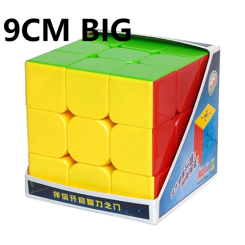 HeShu 9CM Big 3x3x3 Magic Cube Puzzle Safe ABS Twist Cubo Magico Educational Toy For Children  Learning Toys Mind Games