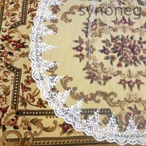 Image 5 - Veu de noiva longo Lace Appliques One Layers 3M 4M 5MLong Veils Wedding Veils  With Comb Wedding Accessories Bridal Veils
