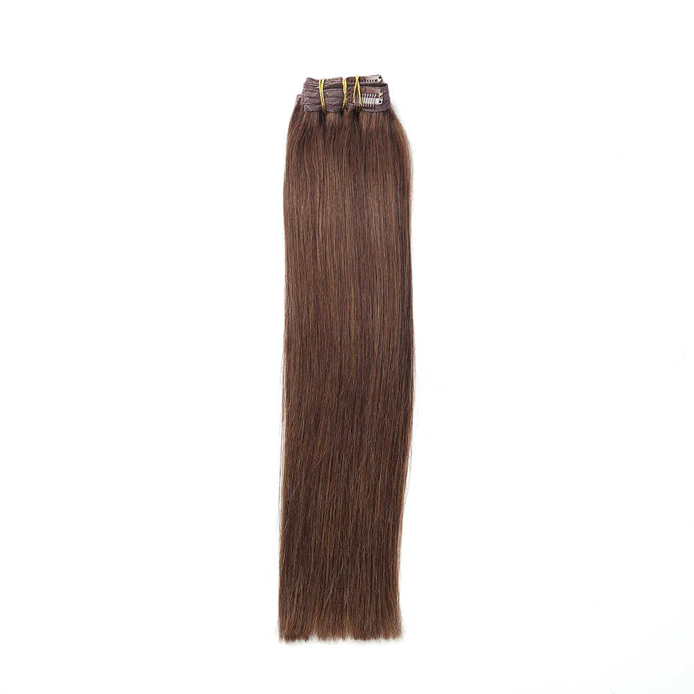 """Sindra 7 Clips Natural Silky Straight Human Remy Hair Clip In Extensions 14""""-24"""" Clip In Hair Extensions 90g 120g"""