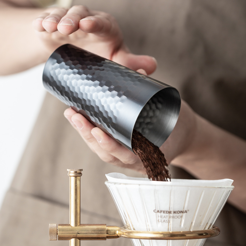 CAFEDE KONA Copper Coffee Scent Cup Coffee Powder Feeder 150ml/330ml Hand Drip Tools Coffee Cupping Fragrance