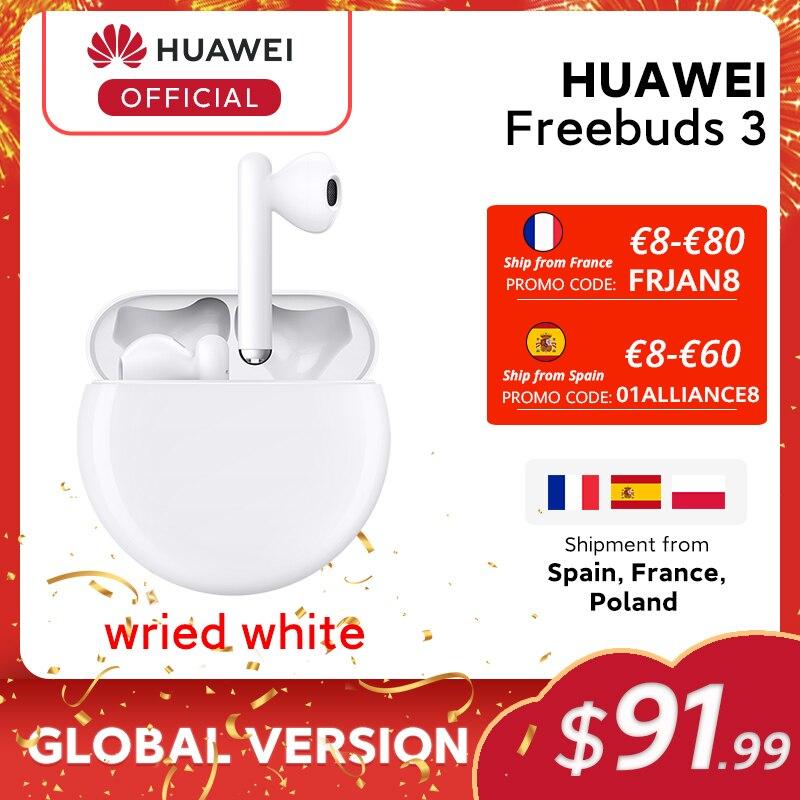В наличии оригинал HUAWEI FreeBuds 3 FreeBuds3 Bluetooth наушники TWS беспроводные наушники Kirin A1 чип ANC функция Оригинал