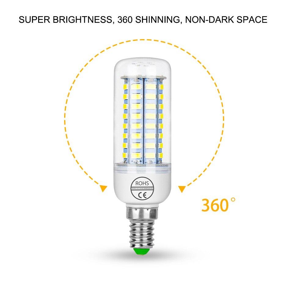 E27 E14 Led-lampe Mais Licht 5730SMD 220V 24 36 48 56 69 72leds LED Lampe Lampen Weihnachten lampada FÜHRTE Scheinwerfer Innen Beleuchtung