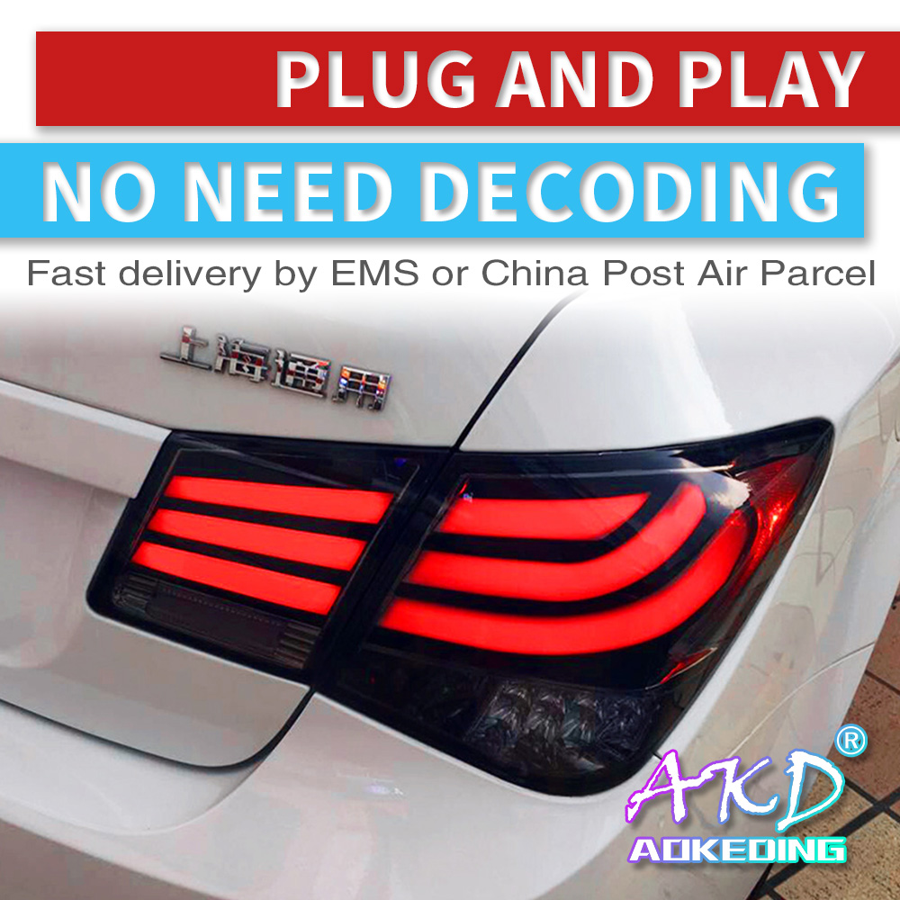 AKD tuning cars Tail <font><b>lights</b></font> For <font><b>Chevrolet</b></font> <font><b>Cruze</b></font> 2009 Taillights LED DRL <font><b>Running</b></font> <font><b>lights</b></font> Fog <font><b>lights</b></font> angel eyes Rear parking <font><b>lights</b></font> image
