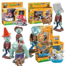 Plants Vs Zombies Toys For Children Pvz Squeeze Launch Model Plant Zombie Figurine Novelty Gag Toy  Gift No Box