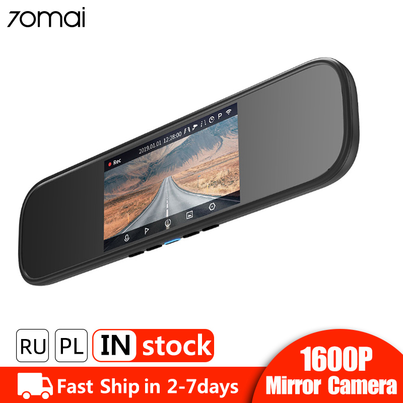 Xiaomi 70mai rétroviseur caméra tableau de bord Wifi 1600P HD 70 Mai Dashcam vue arrière voiture DVR caméra enregistreur vidéo 24H moniteur de stationnement
