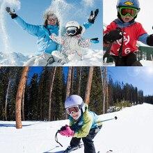 Adult Children Winter Skiing Goggles Snow Sports Anti-fog Snowmobile Dustproof Windproof Eyewear Skate Sunglasses SKI Glasses
