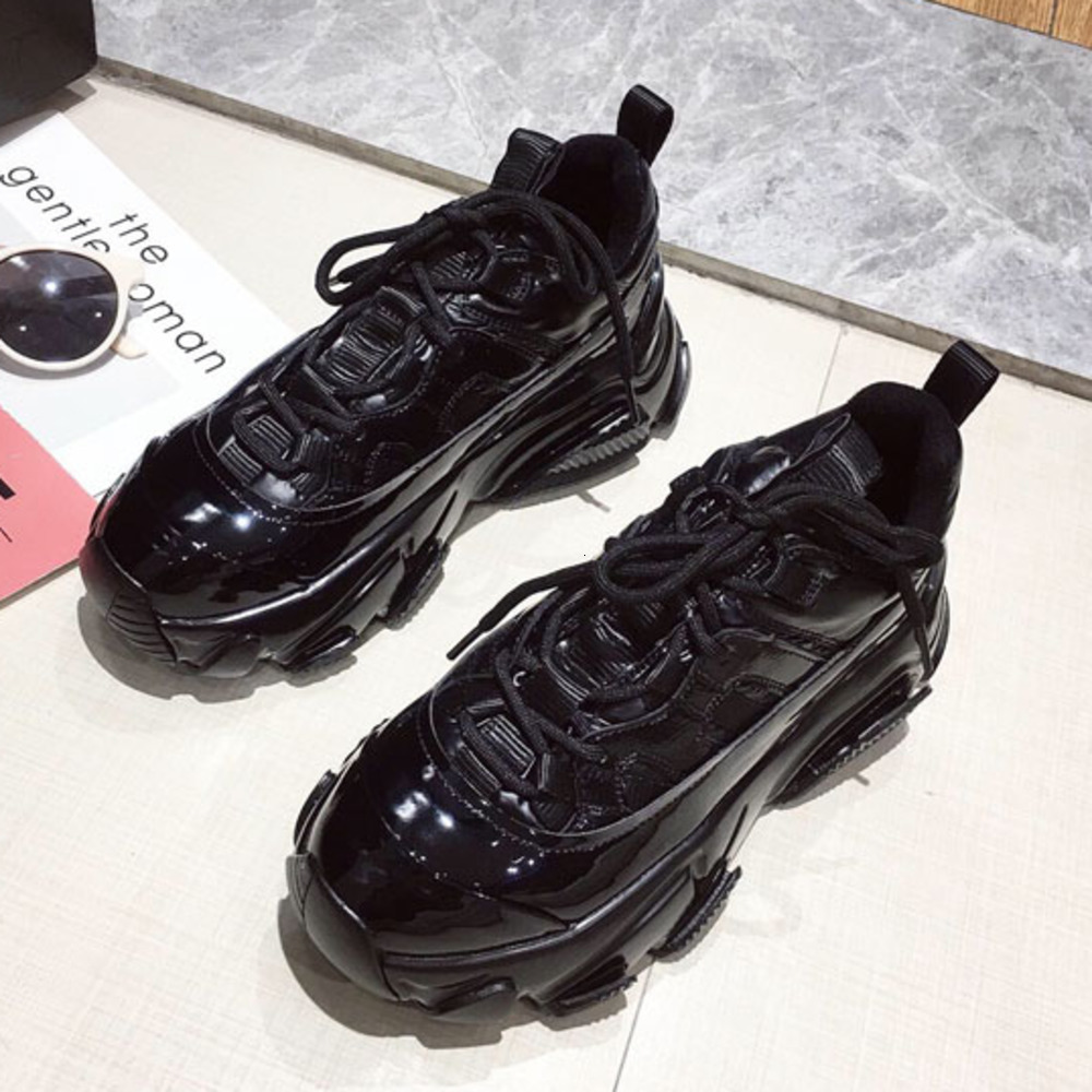 Chunky Dad Shoes 2020 New Spring Fashion Women Snaekers Fashion Platform Sneakers Black Women Trainers Platform Wedges Shoes