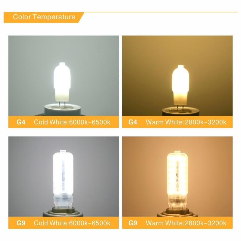 Купить с кэшбэком G4 G9 LED Lamp 3W 5W AC 220V DC 12V Mini LED Bulb SMD2835 Spotlight Chandelier High Quality Lighting Replace Halogen Lamps