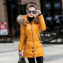 NEEDBO Down Jacket Women Long Winter Down