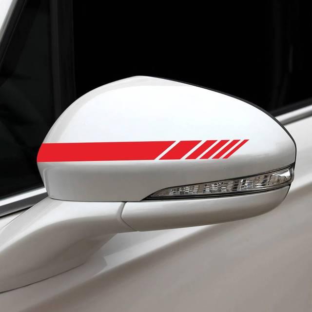 5 pçs adesivos de carro listras laterais corpo decalques porta capa espelho retrovisor corrida acessórios esportivos para toyota bmw audi vw kia