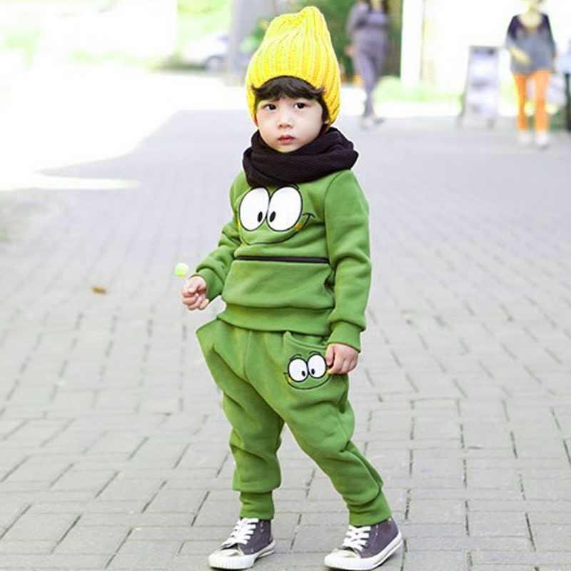 LOOZYKIT סתיו אביב אופנה ילדה ילד בגדי כותנה ארוך שרוול סווטשירט + מכנסיים תינוק אימונית מזדמן ספורט בגדי סט