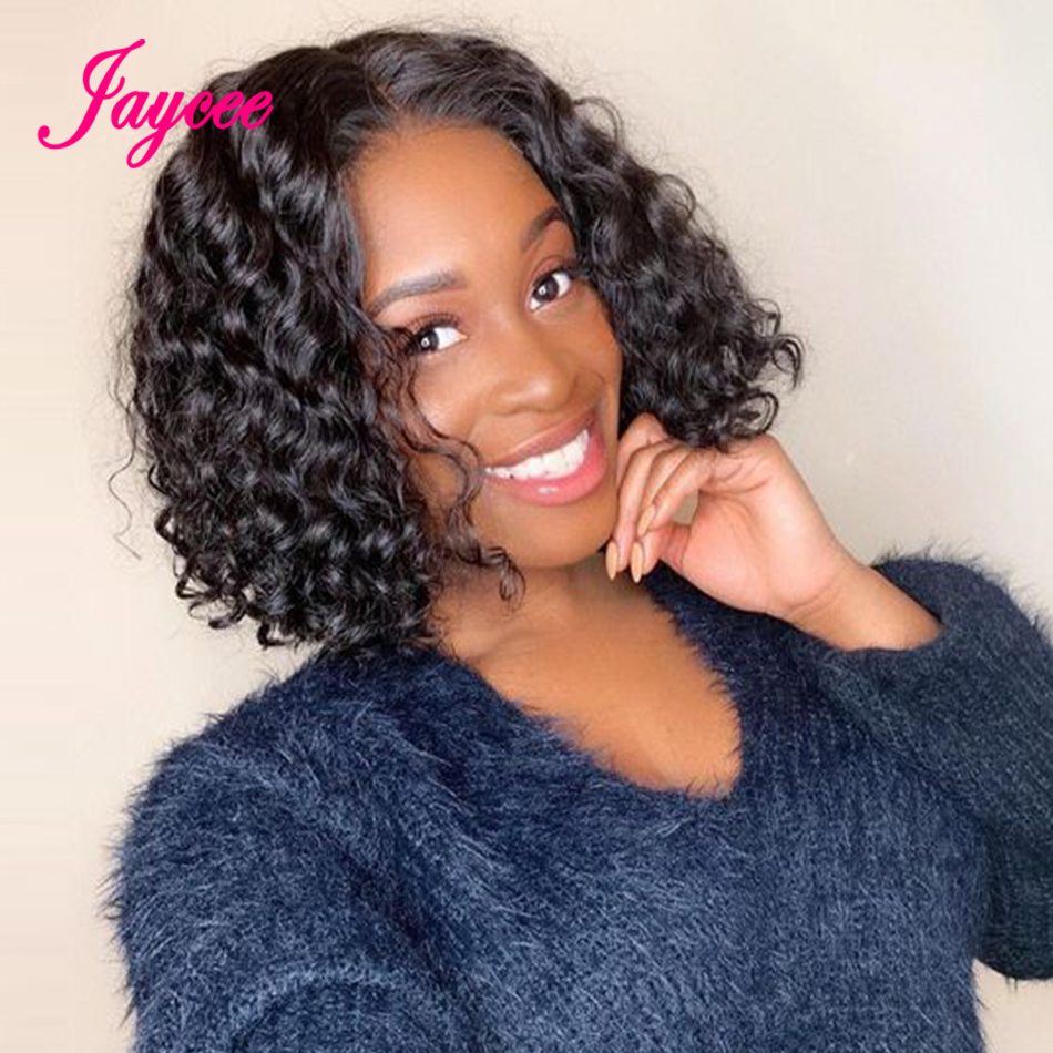 13x4 Water Wave Bob Wig 150% Density Remy Human Hair Bob Lace Front Wigs Pre Plucked With Baby Hair Jaycee Human Hair Wigs
