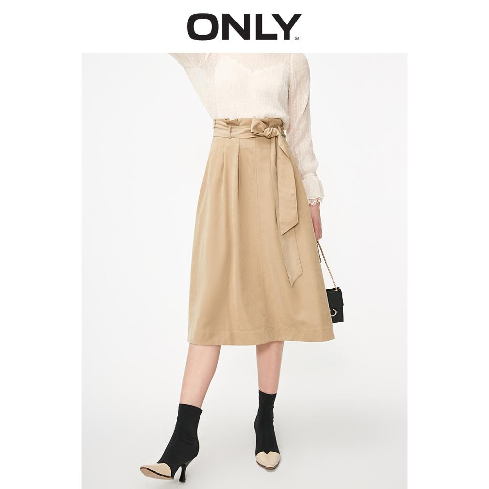 ONLY Women's High-rise A-line Budded Skirt | 119116533