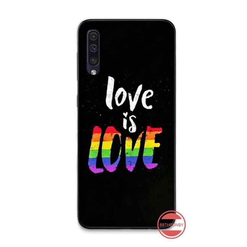 สายรุ้งเกย์เลสเบี้ยน LGBT Pride Soft TPU ฝาครอบโทรศัพท์สำหรับ Samsung A20 A30 30 S A40 A7 2018 J2 J7 prime J4 PLUS S5 หมายเหตุ 9 10 PLUS