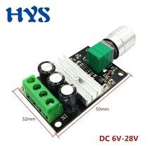цена на PMW DC 6V-28V 3A Motor Speed Controller 12 V Volt Voltage Control Speed Regulator Control DC12V PMW Adjustable Drive Module 24V