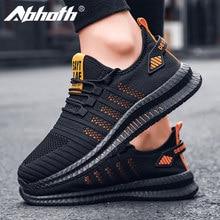 Abhoth yeni hafif örgü erkek ayakkabısı rahat rahat erkek spor ayakkabı nefes kaymaz aşınmaya dayanıklı açık yürüyüş ayakkabısı
