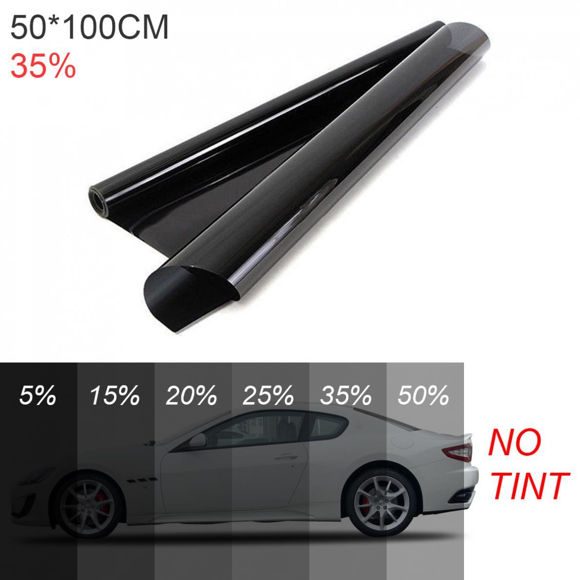Тридцать пять процентов просвечивающие ПВХ утолщенные автомобильные шторы на ветровое стекло Солнцезащитный УФ-защита боковая оконная пл...