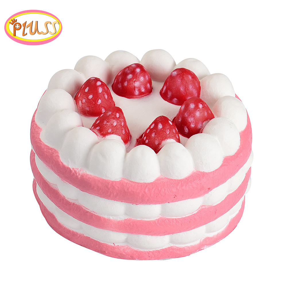 New Jumbo Strawberry Cake Squishy Slow Rising Cream Scented Squeeze Toy  Stress Relief Exquisite For Kids Xmas Gifts 12CMx11.5CM