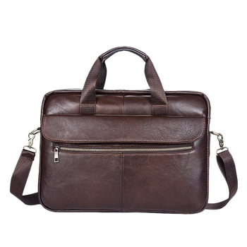Men's Briefcase Cowhide Laptop Bag Messenger Bag Men's Bag Messenger Bag Business Bag