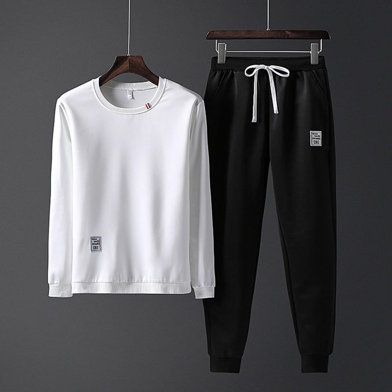 Fall 2020 Tracksuit Men Clothing Sports Suit Men 2 Pieces Set Men's Plus Size M-4XL Sweatsuit Sportswear Hoodies + Sweat Pants