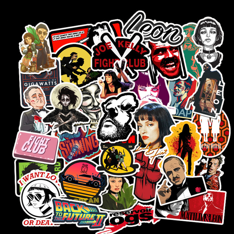 25 Skateboard Stickers bomb Vinyl Laptop Luggage Movie Posters Sticker Lot cool