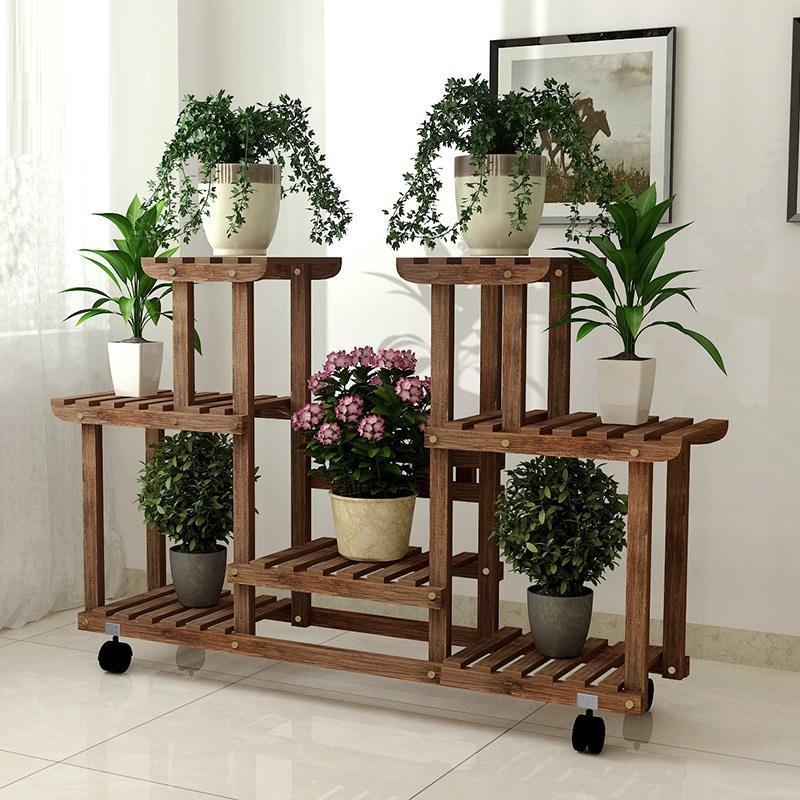 Plantenrekken Scaffale Porta Piante Estante Para Plantas Wood Table Rack Stojak Na Kwiaty Outdoor Flower Stand Plant Shelf