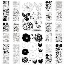 Kwiat przezroczysty pieczęć silikonowa uszczelki do DIY Scrapbooking ręcznie robiony Album na zdjęcia dekoracyjne jasne pieczęć 2020 10 tanie tanio CN (pochodzenie) Clear stamp Pieczątka standardowa Other
