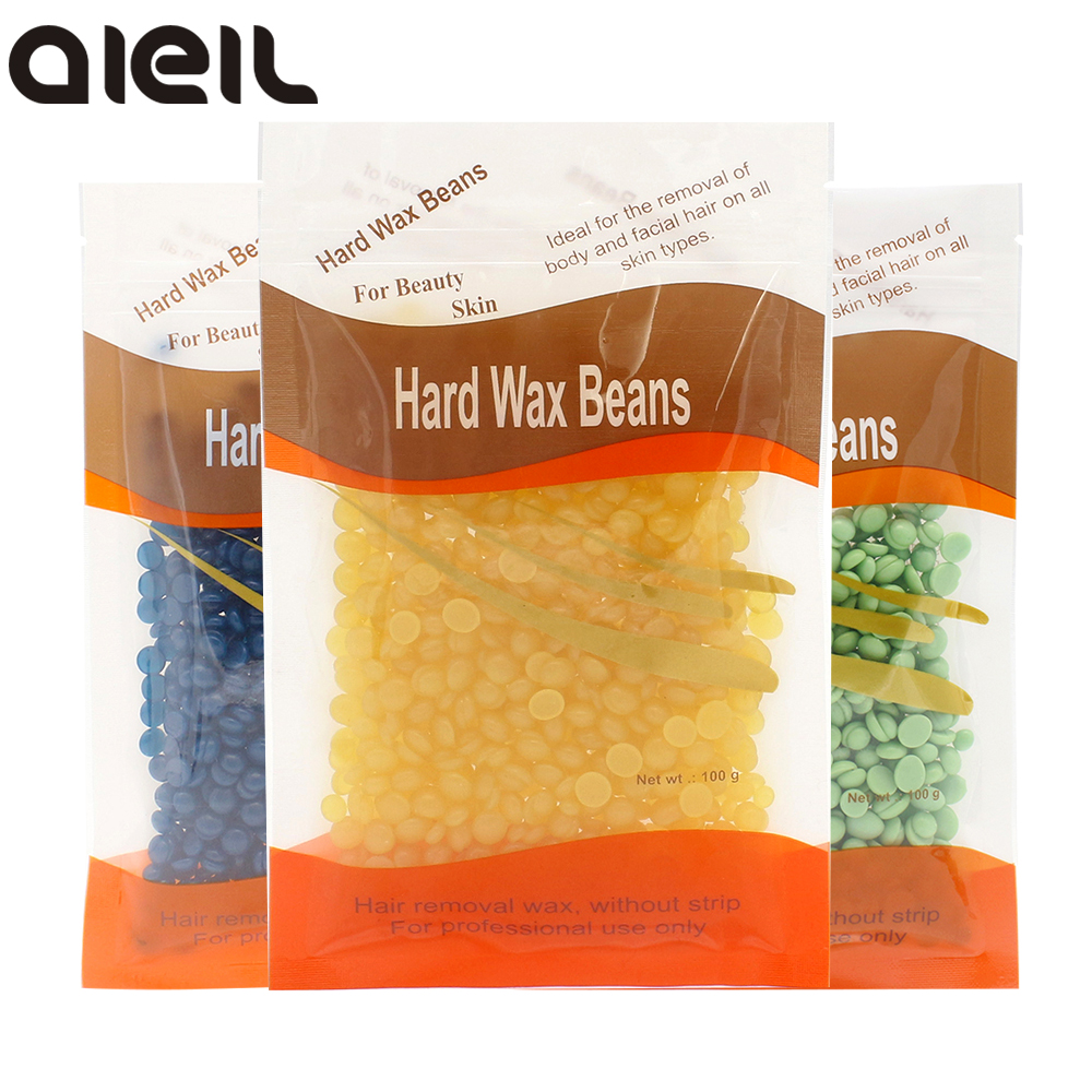 100g Wax Beans No Strip Depilatory Hot Film Hard Wax Pellet Waxing Bikini Face Hair Removal Bean For Female Wax For Depilation