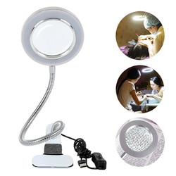 Magnifying Glass Desk Lamp 8X Magnifier Lamp Eye Protection Beauty Makeup Tattoo Light Reading LED Table Light with Clip