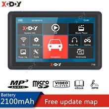Xgody GPS Navigation Für Auto 7 Zoll 128 + 8GB Lkw GPS Navigator Touch Screen Fm Russland Europa Amerika freies Karte 2020 Fahrzeug GPS