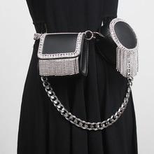 Long-Chain Criss-Cross-Bag Square-Bag Black Small Fashion Famale Diamond Patchwork PU