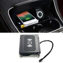 Car cup holder trim For Mercedes Benz W205 amg GLC C43 C64  C Class C180 C200 center console interior accessories charging case