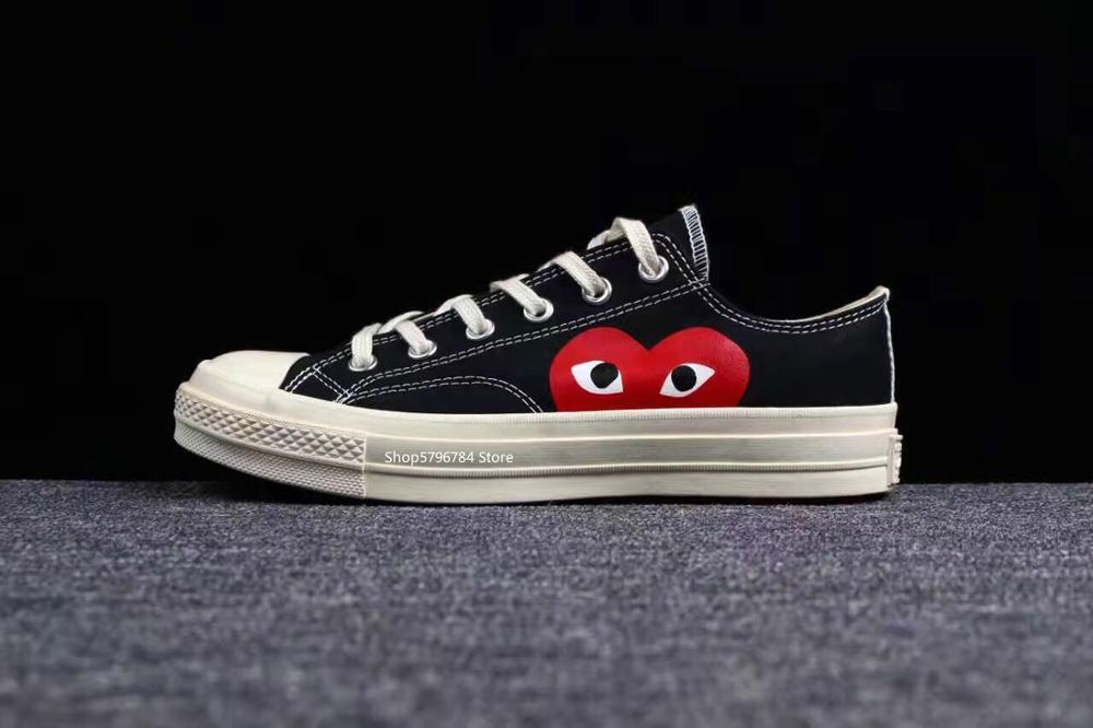 Классическая игра Converse all star CDG x 1970s; Повседневная обувь для отдыха на высоких и низких каблуках; Обувь унисекс; Высокое качество; Парусиновая обувь для скейтборда|Катание на скейтборде|   | АлиЭкспресс