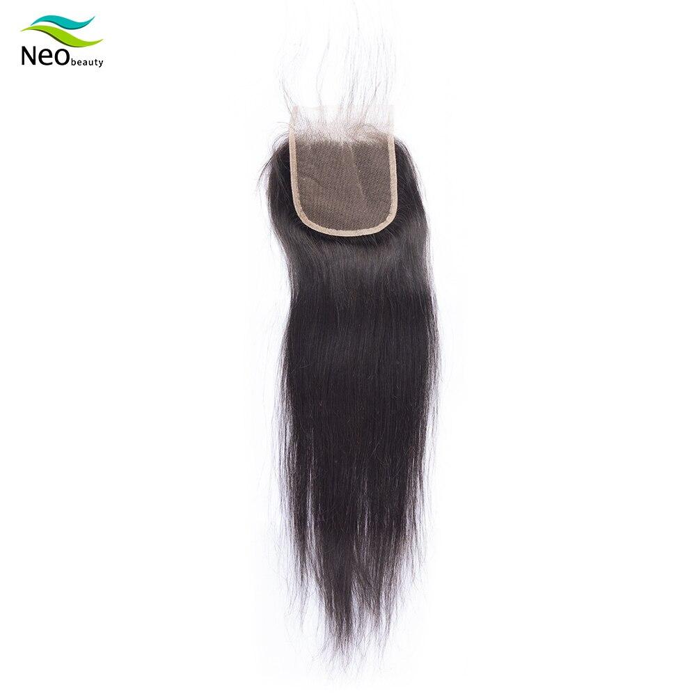 Где купить 10A человеческие волосы бразильские 4x4 кружева закрытие предварительно выщипывание с ребенком волосы шелковистые прямые Закрытие