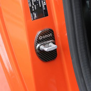 2 sztuk drzwi ze stali nierdzewnej pokrywa zamka dekoracyjne antykorozyjne akcesoria ochronne dla Mercedes Smart 450 451 Fortwo 453 Forfour tanie i dobre opinie TOONIES Drzwi i linii Talii CN (pochodzenie) Inne naklejki 3d Zmieniające kolor STAINLESS STEEL Kreatywne naklejki Bez opakowania