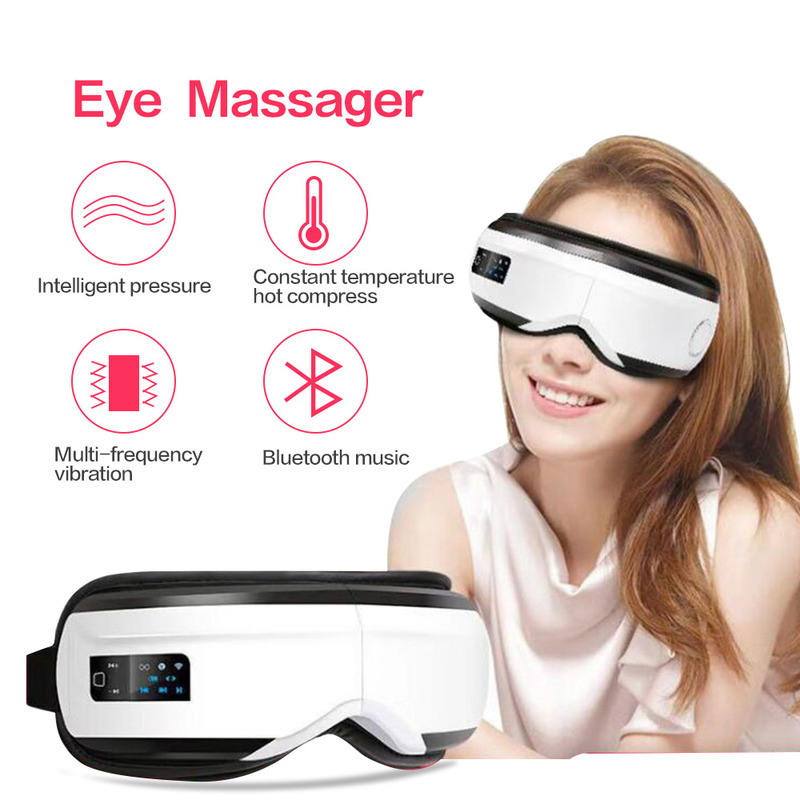 Bluetooth Music Vibration Eye Massager Wrinkle Fatigue Relieve Hot Compressing Air Pressure Therapy Massage Eye Care Device