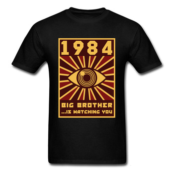 Midnite star 1984 big brother T-shirt black men's sleeve T-shirt graphic eye clothes stationery Hippie funny streetwear T-shirt