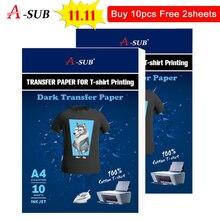 A3/A4 T shirt Transfer Papier Voor Donkere Color100 % Katoen Stoffen Doek Inkjet Printing Ontwerp