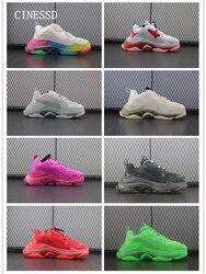 Nouveau décontracté hommes chaussures de qualité supérieure couture Transparent bas baskets en cuir véritable chaussures flambant neuf confortable femmes chaussures