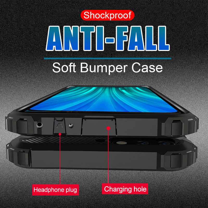 Luxury Armor Shockproof Case For Xiaomi Redmi 7A 8A Note 8 Pro Soft Back Case For Xiaomi Redmi Note 8T 7 Pro Silicon Bumper Case
