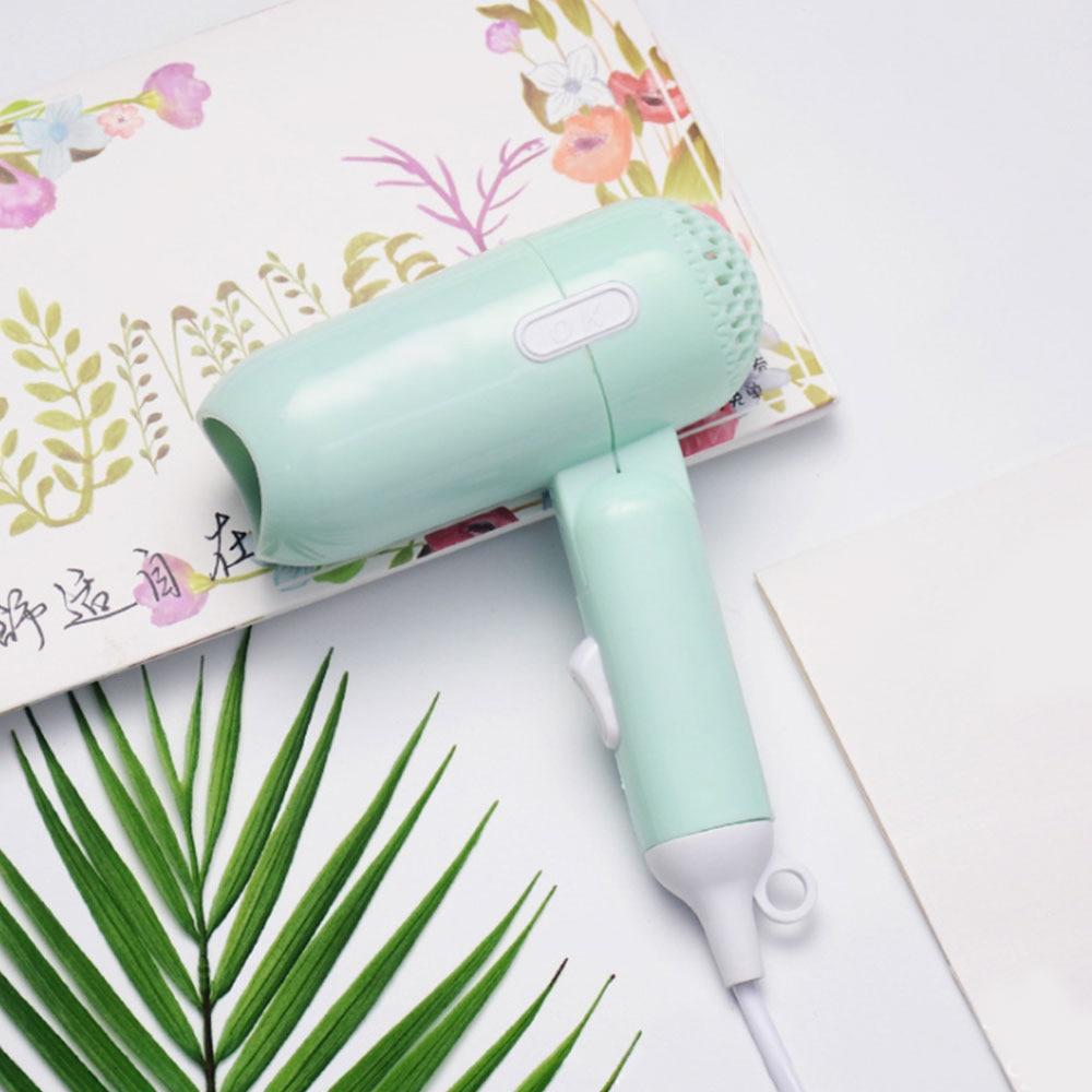 Купить с кэшбэком 220V Hot Mini Hair Dryer Foldable House Portable Thermostatic Air Collecting Traveller Compact Blower 400W Electric Hair Dryer