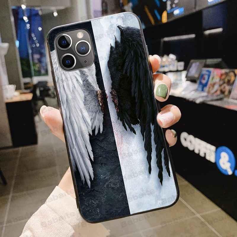 American tv degenerado anjo lucifer tpu silicone macio preto caso de telefone para o iphone 5 5sx 6 7plus 8 x xs max xr 11pro max
