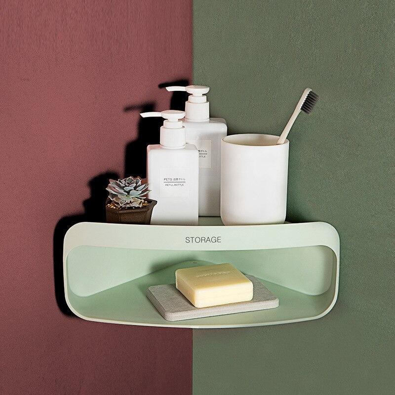 Bathroom Accessories Bathroom Corner Shelf Shampoo Holder Kitchen Storage Rack Shower Corner Shelves Organizer Wall Mounted
