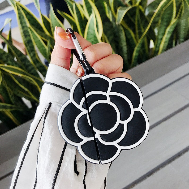 Silicon Case For AirPods Case Luxury Flower Pattern Protective Case Cute Wireless Earphone Case For Airpods 2 Headphone Cover