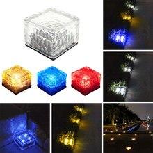 Ледяной куб наземный светильник солнечной энергии Ландшафтный свет безопасности желоба путь подземный свет Экологически чистый свет-контролируемый