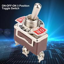 цена на 5PCS 1122 Mini Toggle Switch 12mm 3 Pin 3 Position Latching Switch ON-OFF-ON 250VAC 15A