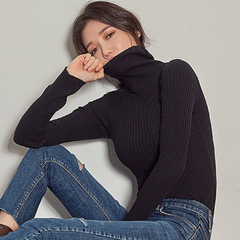 TRODEAM Sweaters for Teenage Girls Black Turtleneck Winter Clothes Full Knitted Female Slim Bodycon Turtleneck Black Knitwear kids children sweaters winter 2020 casual turtleneck knitted sweaters for girls warm boy sweaters cotton girls cardigan clothes