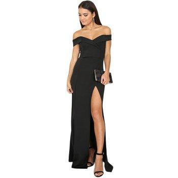 Off-the-shoulder Black Evening Dress 1