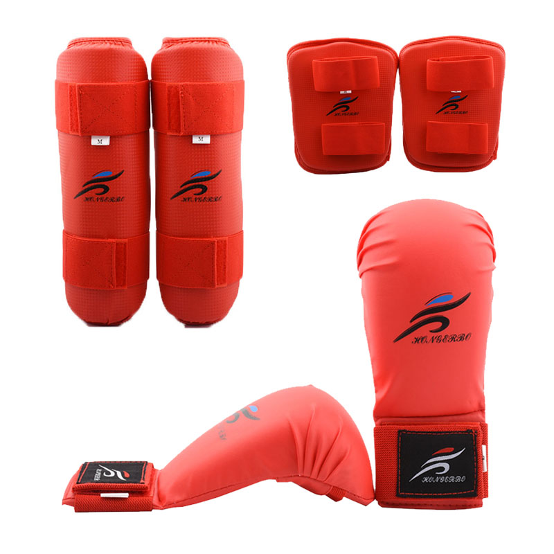Red Children Boxing Sports Kicking Pad MMA Martial Arts Training Sparring Gloves
